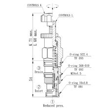 DTL磐龙螺纹插装阀 CRD-063,093,T02,T11,T17系列插式减压阀